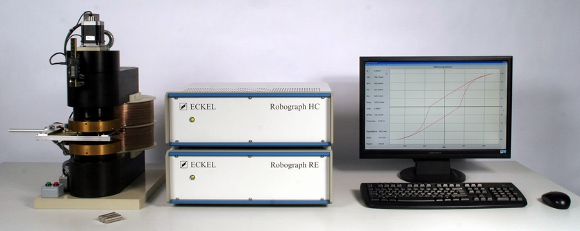 Robograph RE for material and flux measurement of flat Rare Earth and ferrites