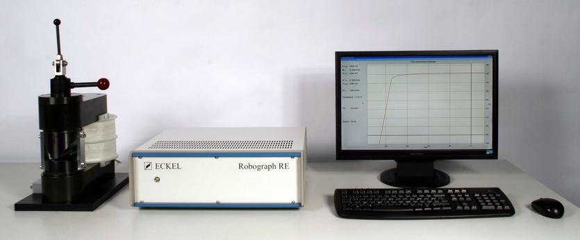 Robograph RE für Flusshysteresemessung von Magnetsegmenten